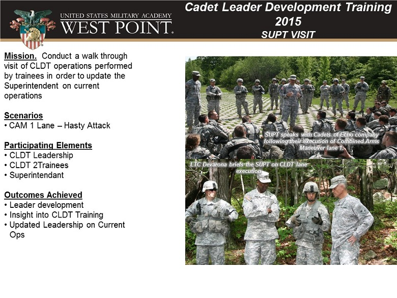 Cadet Summer Training (CST) | United States Military Academy