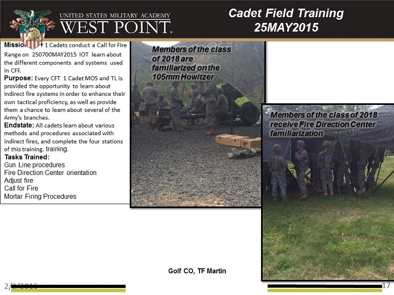 Field Training 2015