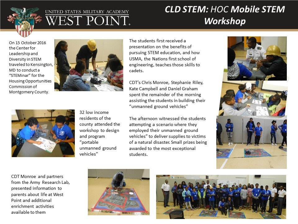 CLD STEM holds a Mobile STEM Workshop in Montgomery County, MD