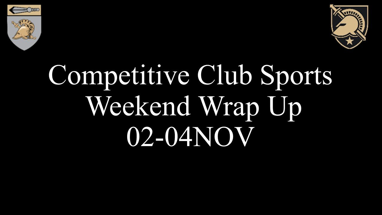 Competitive Club Sports Weekend Wrap Up