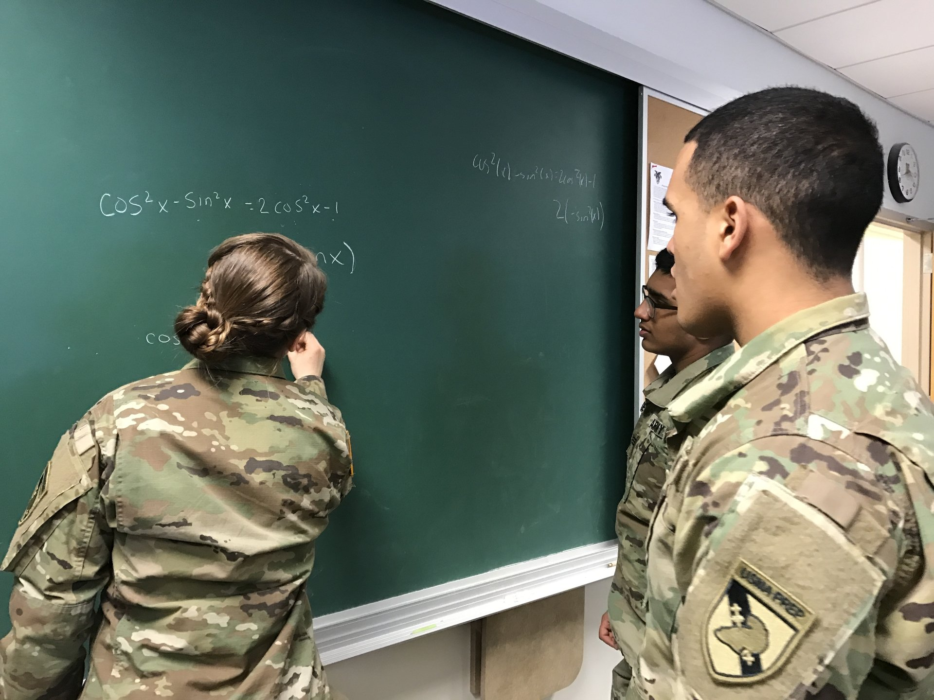 Cadets solving math problems at USMAPS