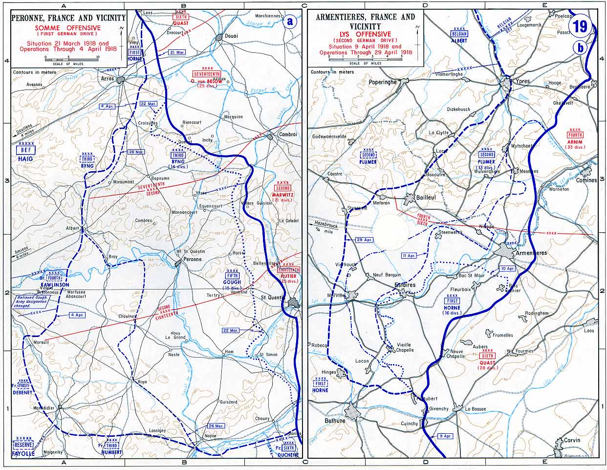 Map Of France Ww1.World War I United States Military Academy West Point