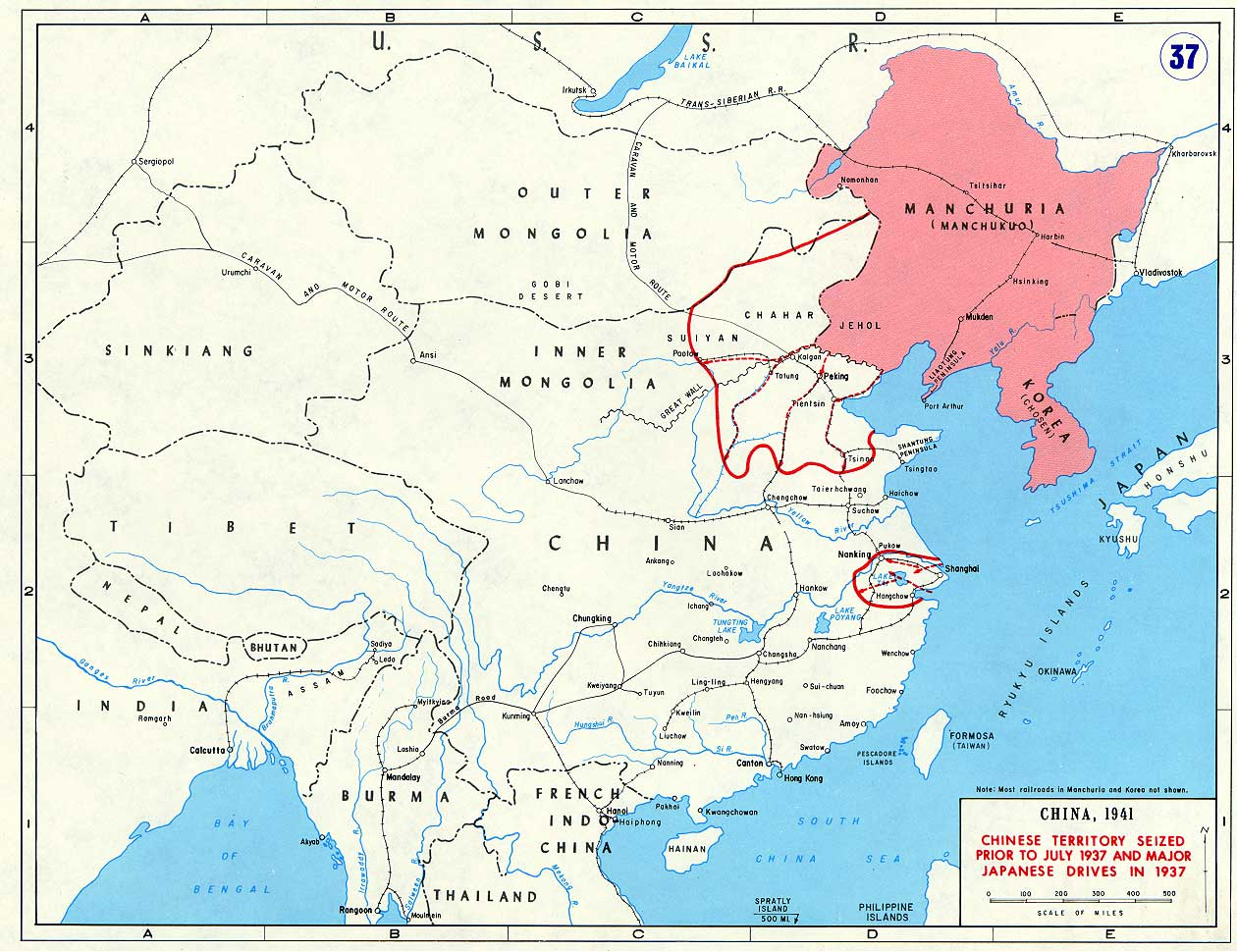 Map Of Asia 1941.World War Ii Asia Pacific United States Military Academy West