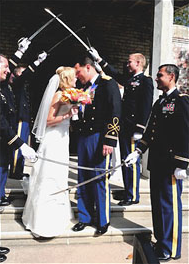 Saber Arch at a Military Wedding
