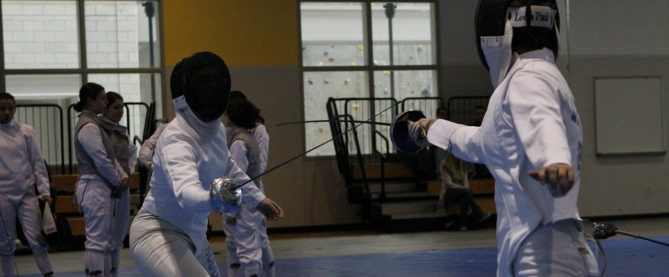 West Point cadets participate in fencing competition