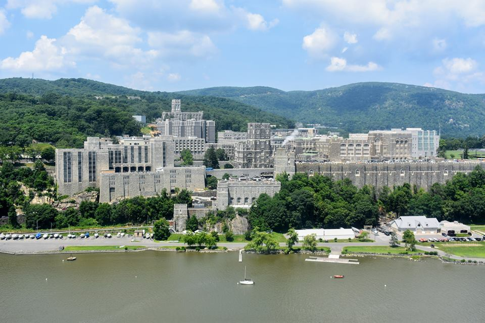 Cadets learning about the history of west point