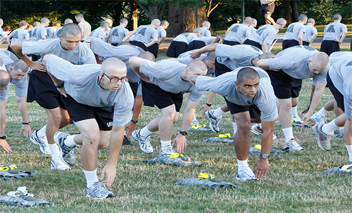 West Point Cadets breaking a group