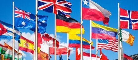 Image of international flags