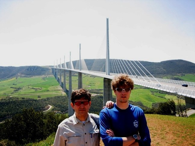 Cadets on an AIAD in front of bridge