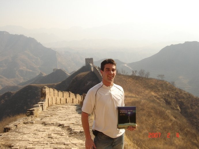 Cadet on an AIAD on Great Wall of China