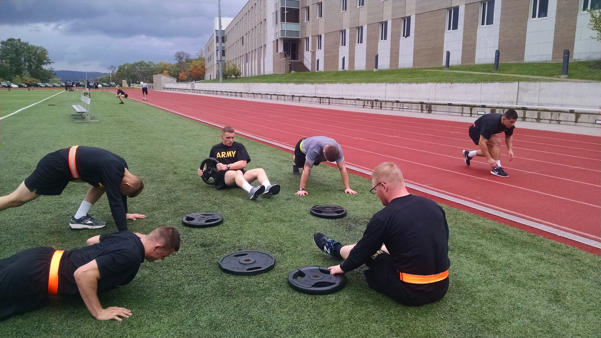 Cadets training on the track