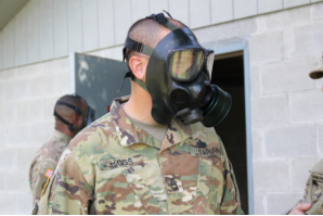 USMAPS student participates in gas chamber exercise