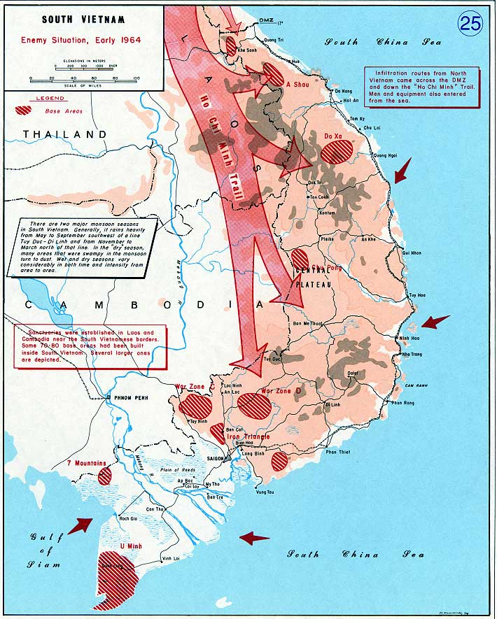 The Vietnam War | United States Military Academy West Point on map korea dmz 1967 1968, map of vietnamese demilitarized zone, map of dmz korea,