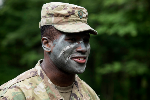 Teen from the 2018 Summer Leaders Experience during the military training experience. >From Media Library>From Media Library