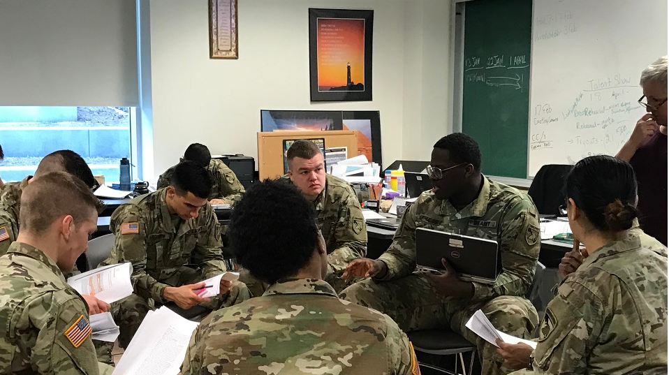 Cadets meet and discuss literature in English course at USMAPS>From Media Library