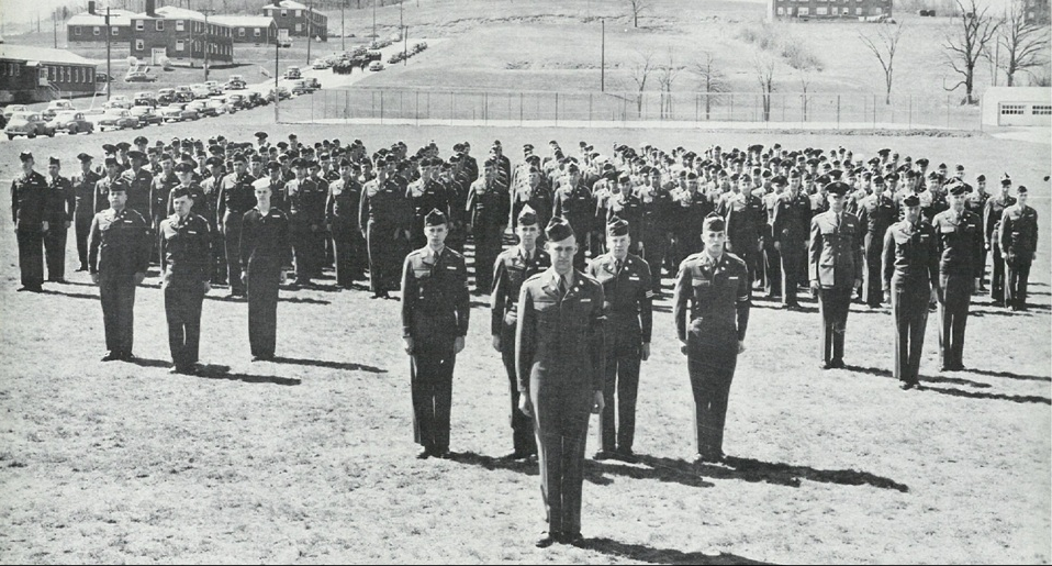 Cadet Candidate Battalion in formation at Stewart Army Airfield, 1951.>From Media Library